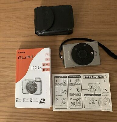 Canon Ixus Z70 Vintage APS Film Camera with Leather Case Box Manual Mint Condition