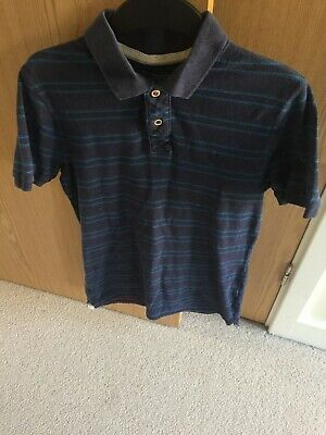 Fatface Mens Dark Ink Blue Charles Placement Short Sleeve Polo Shirt Tee Size M