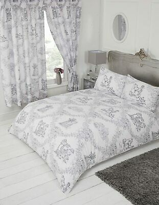 Toile De Jouy Red Single Duvet Cover, Red Toile Queen Bedding