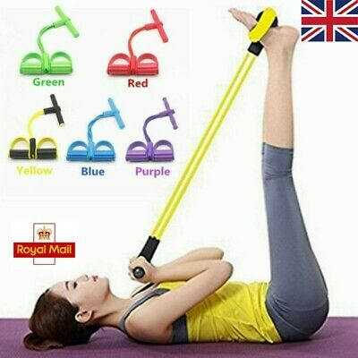 Adult Multi-Function Tension Rope Fitness Pedal Exerciser Rope Pull Bands UK