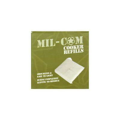 MIL-COM PORTABLE COOKER /& HEXAMINE TABLETS MINI CAMPING STOVE ARMY HEXI FUEL