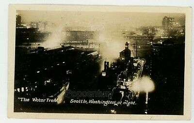 1905 Seattle Waterfront Vintage Old Photo 11 x 17 Reprint Colorized