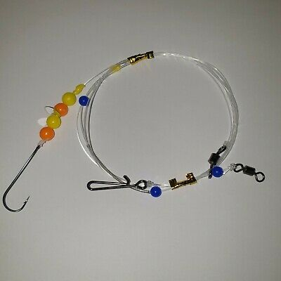 Sea Fishing Rigs Size 2//0 Clipped Down Rigs Cod,Bass,Hounds On Winders