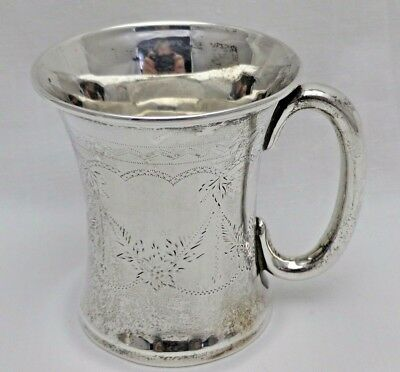 Vintage Solid Sterling Silver Small Tankard B'Ham 1926 Ideal Babies Gift