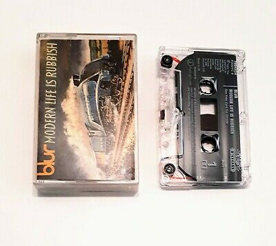 BLUR Modern Life Is Rubbish (Cassette Tape) Food 1993 EX Condition