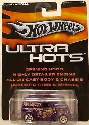 Hot Wheels Ultra Hots Purple Ford Anglia Panel Truck w//Real Riders