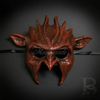 Beast Devil Mask Red Masquerade Ball M39425 Halloween Face Cosplay Costume