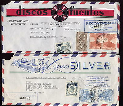 Colombia 1959 Recording Industry Advert 2 Reg.covers
