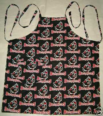 Barbeque Apron made with Tampa Bay Buccaneers NFL Football Cotton Fabric BBQ
