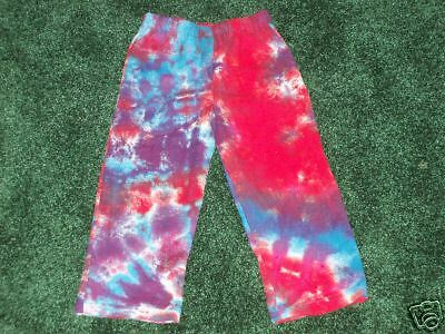 24M Hippie girls Kids Tie dye flannel pants youth 2T
