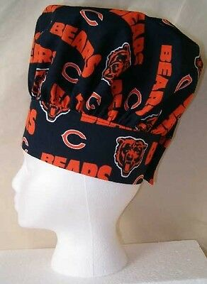 Chef Hat & Apron Made With Chicago Bears NFL Cotton Fabric BBQ Grilling Football