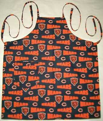 Barbeque Apron made with Chicago Bears NFL Football Cotton Fabric BBQ Grilling