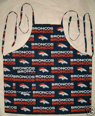 Barbeque Apron Made With Denver Broncos NFL Cotton Fabric Made in the USA BBQ