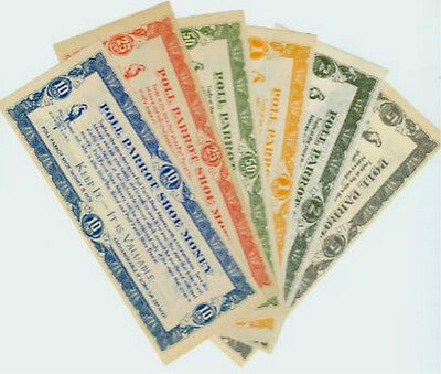 Advertising Promo Poll Parrot Shoe Money Scrip Currency Hoard UNC NEW c1920