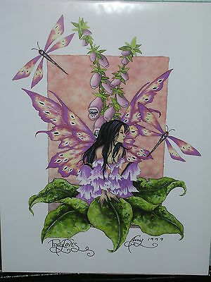 Amy Brown - Foxgloves  - OUT OF PRINT