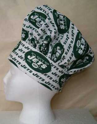 Chef Hat & Apron Made with New York Jets NFL Cotton Fabric New Grill Grilling