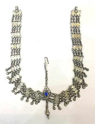 Antique Bellydance Tribal Old Silver Forhead Ornament