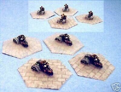 Battletech painted Dark Age tracked bikes Olive Drab