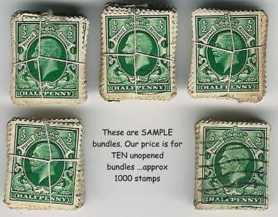 GB KG5th 1934 GRAVURE 1/2d Ref 168..BUNDLES 1000 stamps