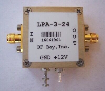 50-3000MHz Flat Low Power Amplifier, LPA-3-24, New, SMA