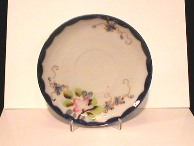 Made In Japan Cobalt Blue Hand Painted teacup plate