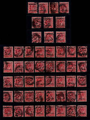 GB OFFICIAL ADMIRALTY 1903 1d Fine Used SGo102...50 Stamps...CV£325