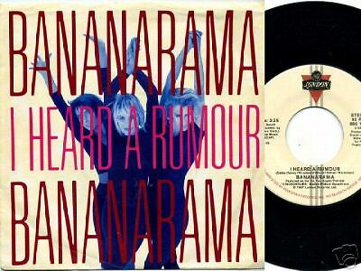 Bananarama, I Heard A Rumour/Clean Cut Boy, 45 rpm w/PS