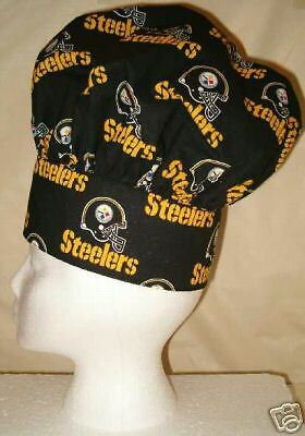 Chef Hat, Apron, Mitt Pittsburgh Steelers Hand Made with NFL Cotton Fabric