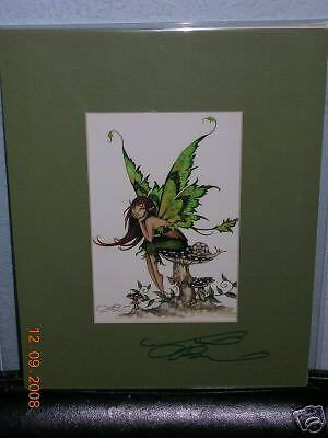 Amy Brown - Thinking of You - Matted Postcard - SIGNED