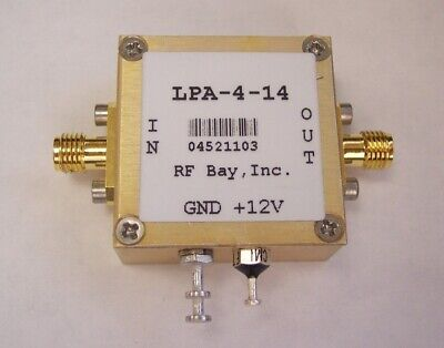 10-4000MHz Low Power Amplifier, LPA-4-14, New, SMA