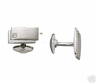 Dolan & Bullock Diamond Sterling Silver Cuff Links/ From Mersenne Collection