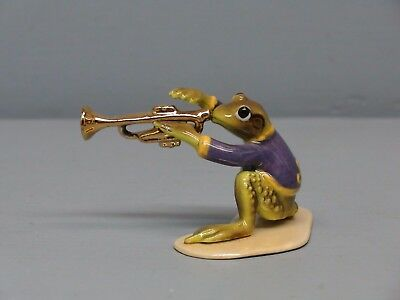 Hagen Renaker Specialty Frog Playing Trumpet