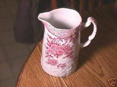 Antique Mulberry Transfer Ware Pitcher- Ironstone