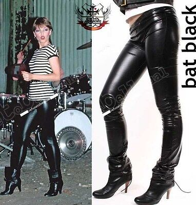 RTBU Punk Rock Ultra Long Leather Like Wet Shiny Metallic Straight Leg Legging S