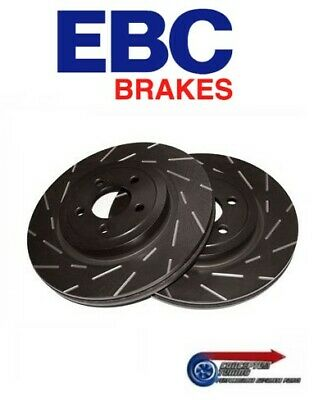 EBC Black Finish Grooved Front Brake Discs- For R32 GTS-T Skyline Pair