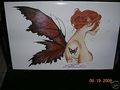 Amy Brown - Butterfly Tattoo - SIGNED - RARE