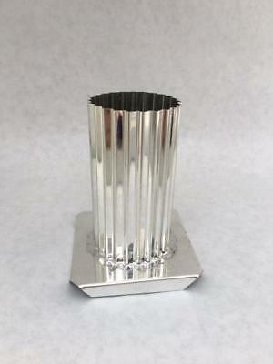 "2"" x 4"" FLUTED ROUND PILLAR CANDLE MOLD METAL NEW"