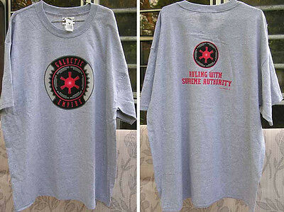 Star Wars  Galactic Empire Ruling With Authority Grey T-shirt  Adult Large