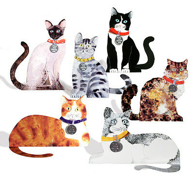 36 Die-cut 3D Cat Cards with 8 Alternative Greetings on Identity Disk EC0009