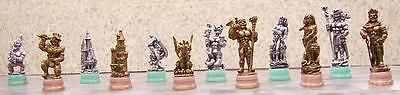Chess Set Pieces Ancient Mythical Warriors NIB
