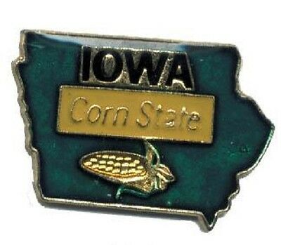 Hat Lapel Push Pin Tie Tac State of Iowa NEW