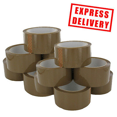 144 Rolls Quality Buff / Brown Tape 48Mm X 66M Big Job Lot * Magic Tape *