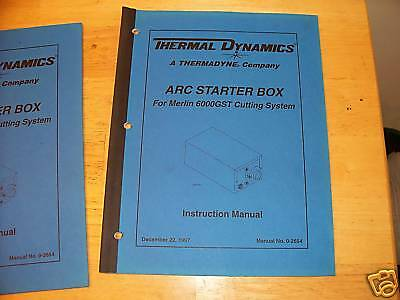 Thermal Dynamics arc starter box instruction manual