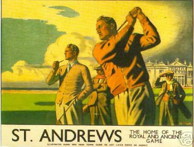 Golf Poster Art - St Andrews - Open 2015 Venue - 1930'3 Railway - 806Mm X 635Mm