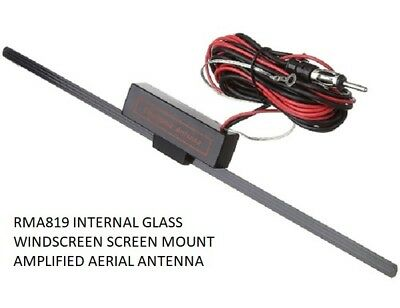 Rma819 Internal Glass Windscreen Screen Mount Amplified Aerial Antenna Car Van