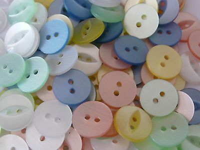 170 ASSORTED COLOURS FISHEYE BUTTONS SIZE 26-17MM.