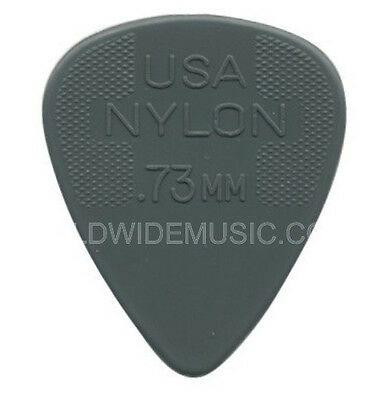 DUNLOP NYLON STANDARD GUITAR PICKS 0.73mm 12 PACK