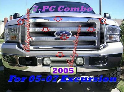 05-07 2006 2007 2005  Ford F250 F350 Excursion Billet Grille Combo