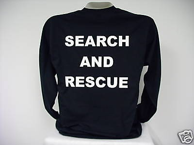 Search And Rescue L/S T-Shirt, SAR L/S T-Shirt,  bk  2X
