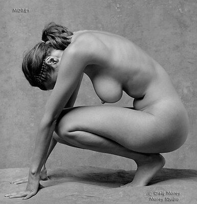 Natalie 81425.49 B&W Fine Art Figure Model, hand-signed photo by Craig Morey